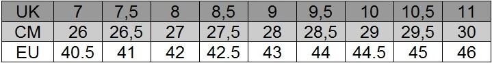 Lacoste tabela rozmiarów męska